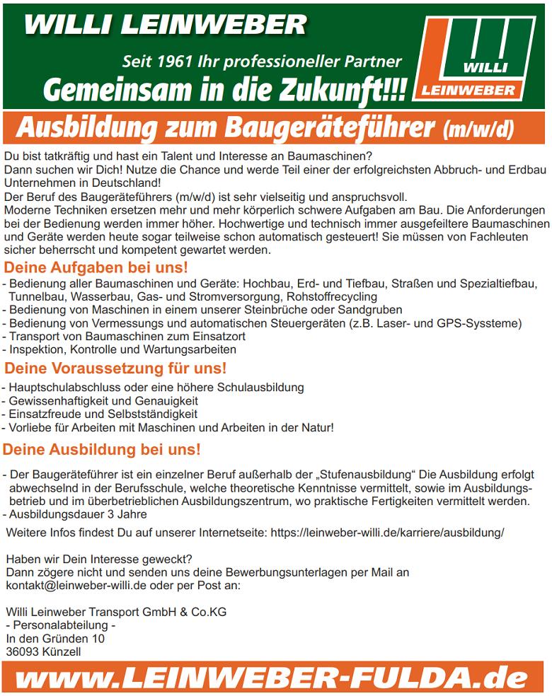 Ausbildung_Baugeräteführer