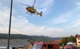 Verpuffung in Ahl: Schwerverletzter mit Rettungshubschrauber in Klinik geflogen