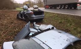 Zwei Personen verletzt: Unfall bei Bahnübergang Baumbach