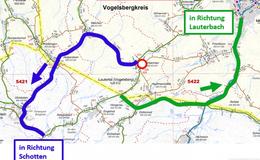 Erneuerung der L 3140 in der Ortsdurchfahrt Lautertal/ Dirlammen