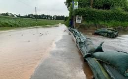Heftiges Unwetter überflutet Straßen und Keller - Unwettermodul ausgelöst