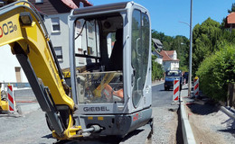Baufortschritte an der Wölfershäuser Straße werden sichtbar