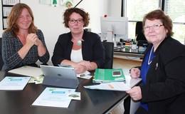 Susanne Simmler empfängt Klimaschutzbotschafterinnen