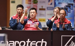 Maberzells Trainer Qing Yu Meng betreut den deutschen Nachwuchs