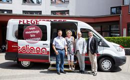 Autohaus Sorg übergibt Ford Transit mit Spezialausbau an Mediana