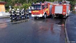 Unwetterwarnung am späten Nachmittag: Sturmböen bis 100 km/h, Einsatz Feuerwehr Ludwigsau