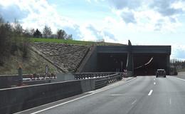A 66 Neuhof: Halbseitige Tunnelsperrung vom 13.08. bis 03.09.2019