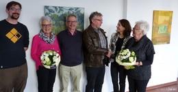 Bürgermeisterin Böttcher dankt dem Vorstand der Volksbühne