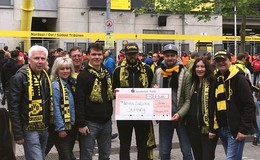Fulda goes BVB spendet 2.200 Euro an Neven-Subotic-Stiftung