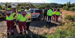 Transporter überschlägt sich auf A66 - Beifahrer festgenommen