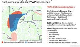 Bahnforum Ausbau Fulda-Gerstungen: Suchraum Richtung Süden erweitert