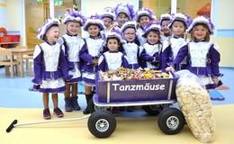 Tanzmäuse vom Carnevalverein Petersberg spenden Süßigkeiten