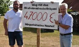 Auch in Neuhof kämpfen sie gegen den Albtraum Straßenbeitrag