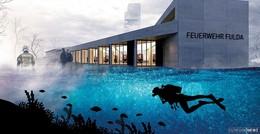 Bald kann getaucht werden: Feuerwehr Fulda-Mitte bekommt ein Schwimmbad