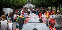 Ferrari-Treffen: Pauluspromenade und Abfahrt in die Rhön