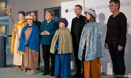 Bundeskanzlerin Angela Merkel empfängt Sternsinger aus dem Bistum Fulda