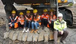 Sechs Mädchen bei FCN - Blick hinter die Kulissen der Produktion