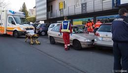 Rettungseinsatz im Stadtgebiet: Verkehrsunfall in Michael-Henkel-Straße