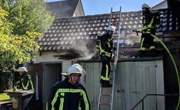 Gartenhütte steht in Bronnzell in Brand - Unklare Lage