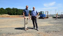 Baustellenbesichtigung bei Nordfrost: Seit einem Jahr wird an der A5 gebaut