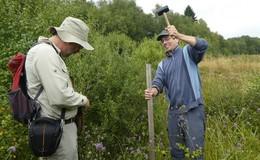 Auf der Suche nach Gespinsten: Goldener Scheckenfalter ist Rhön-Bewohner