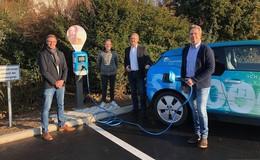 Schuhhaus Zentgraf setzt auf Elektromobilität - Neue E-Ladestation in Arzell