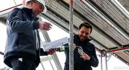Bauunternehmen Jökel feiert Richtfest des Neubaus in der Gartenstraße