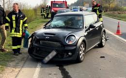 Lkw rammt Pkw in Rodges - eine Person leichtverletzt