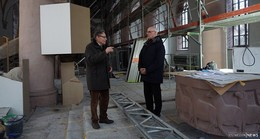 Sanierung der Stadtpfarrkirche Sankt Georg dauert noch bis Ostern