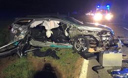 Geflüchteter Fahrer geschnappt: Zwei Schwerverletzte nach Unfall auf K72