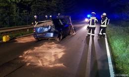 Verkehrsunfall in der Nacht zum 1. Mai zwischen Salmünster und Ahl