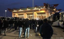 Eintracht-Fans im San Siro-Stadion angekommen - Spannung steigt