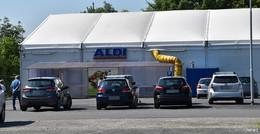 Aldi-Einkauf im Zelt hat bald ein Ende: Neubaueröffnung noch im Sommer