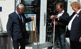 Gedenkstufe auf Point Alpha erinnert an das Paneuropäische Picknick