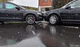 Unfall mit zwei Fahrzeugen auf der Kreuzung in Stöckels - drei Verletzte