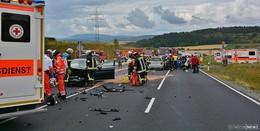 Verkehrsunfall in Herschfeld fordert sieben Verletzte