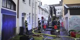 Brand in der Fuldaer Schlachthausgasse und abgebrannter Imbiss in Eichenzell