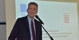 Finanzstaatssekretär Dr. Martin Worms wirbt für die Europawahl