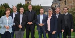 Vorstand des Katholikenrates bei erstem Arbeitstreffen mit Bischof Gerber