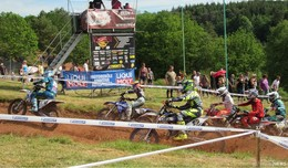 Motocross pur auf der Rennstrecke des MSC Meckbach