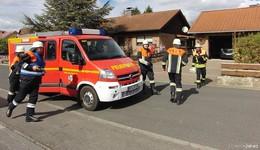 Sonderübung der Feuerwehr bei der Tagespflege Rosengarten