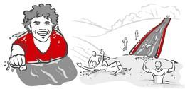 Neues Hindernis beim Red Castle Run: die Mey-Slide