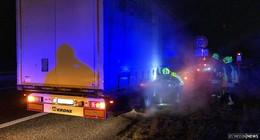 Feuerwehreinsatz auf A66: Bremsen von Lkw laufen heiß