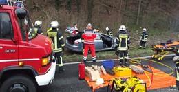 Verkehrsunfall auf der B83 zwischen Baumbach und Hergershausen