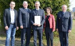 40-jähriges Dienstjubiläum für Polizeihauptkommissar Uwe Hoffmann