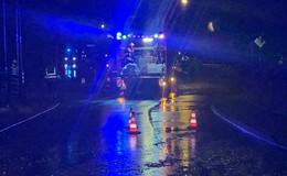 Einsatzreiche Nacht: Überflutete Keller und Straßen - Bitte vorsichtig fahren