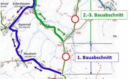 Vollsperrung der L3071 zwischen Ehringshausen und Kirtorf am Mittwoch