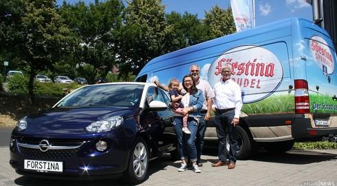Gewinnspielaktion Förstina Sprudel - Hauptgewinn Opel Adam nach Hünfeld