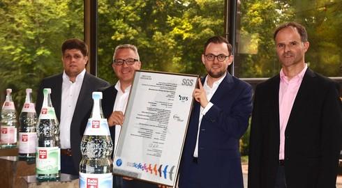 Zum 12. Mal: Hohes Qualitätsniveau von RhönSprudel nach IFS bestätigt